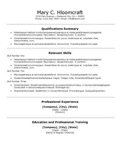 traditional resume template free resume templates for word the ...