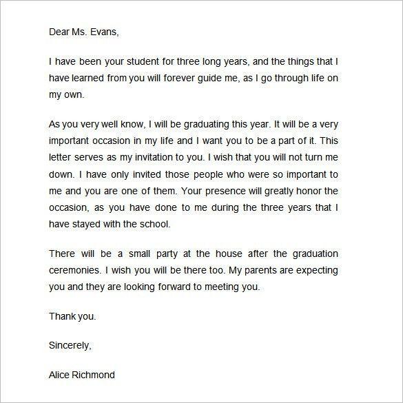 Graduation Invitation Letter - dhavalthakur.Com