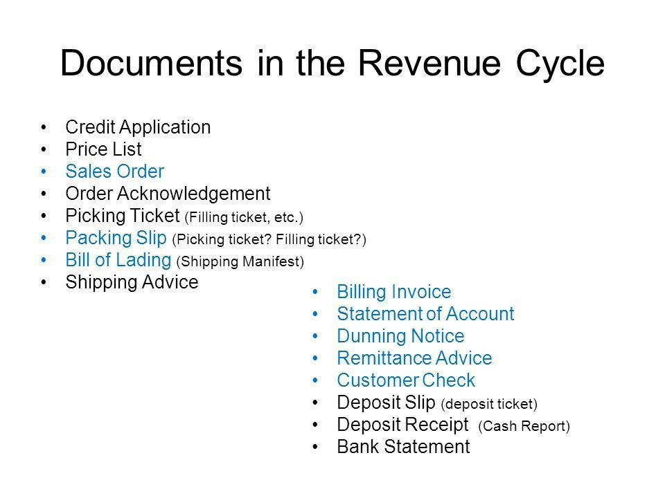 Overview of the Revenue Cycle September 25, ppt download