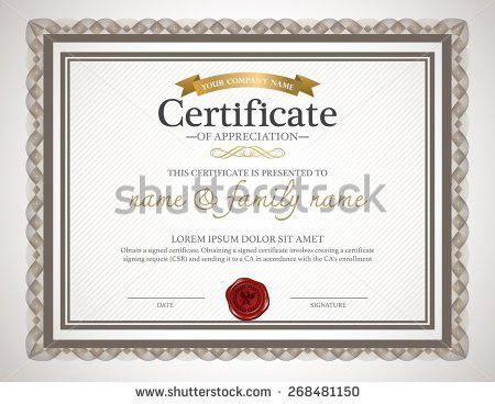 Certificate Design Stock Images, Royalty-Free Images & Vectors ...
