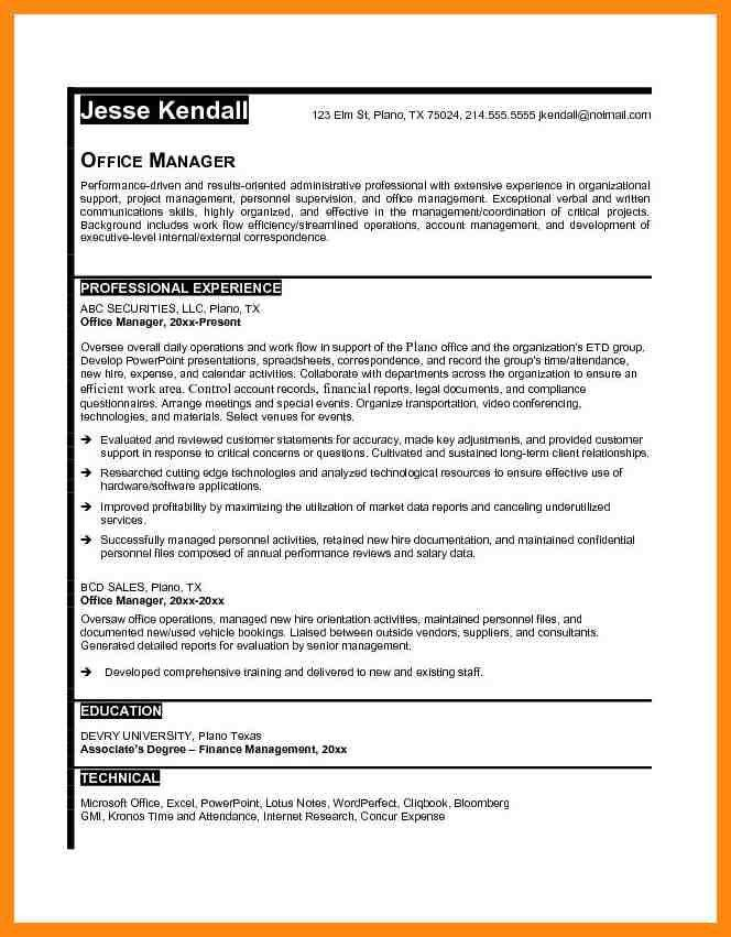 Office Manager Resume Template. Administrative Assistant Resume ...