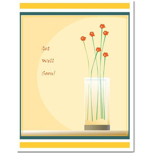 Free Downloads: Simple Template for a Greeting Card in Microsoft ...