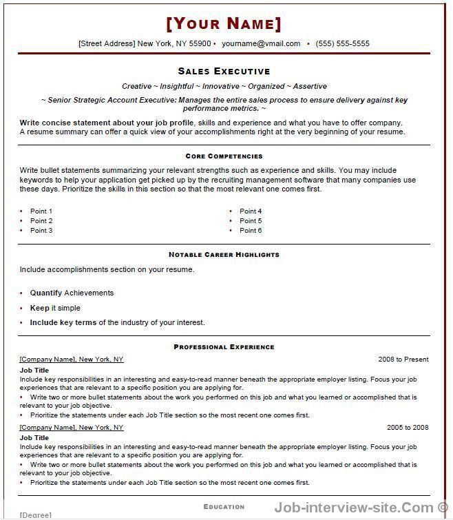 resume template writing objective resume sample sales resume ...
