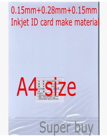 Aliexpress.com : Buy PVC ID card making material inkjet PVC blank ...