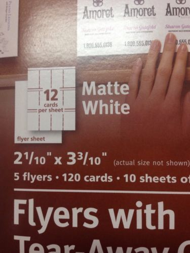Avery Flyers With Tear-away Cards 16151 Matte White 2- 1/10 X 3-3 ...