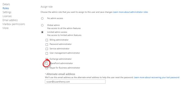 Assign and verify SharePoint Administrator Role in Office 365 for ...