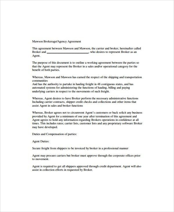 Sample Business Agency Agreement - 8+ Free Documents in Pdf, Word