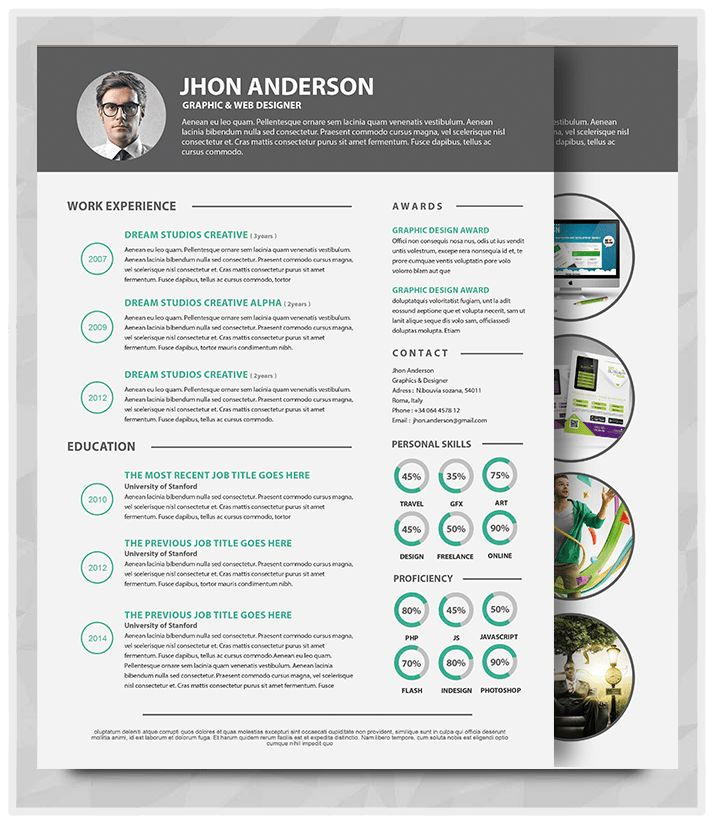 20+ Best Resume Template in 2015 – graphicstoll
