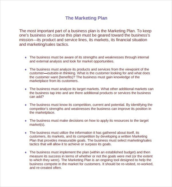 Sample Product Plan Template - 8+ Free Documents in PDF, Word