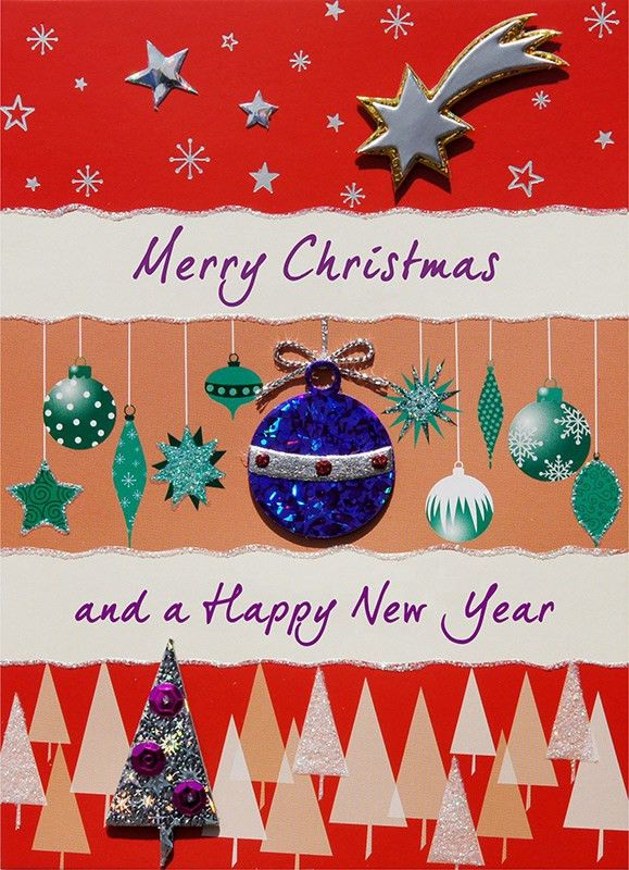 Handmade Christmas Cards, Handmade Happy New Year greeting cards ...