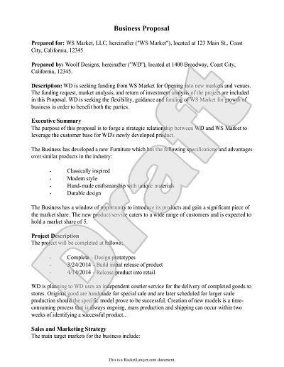 Proposal Sample Doc. Printable Sample Business Proposal Form 896 ...