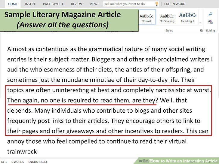 How to Write an Interesting Article: 15 Steps (with Pictures)