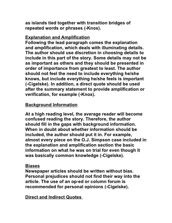 Types of newspaper articles (1)