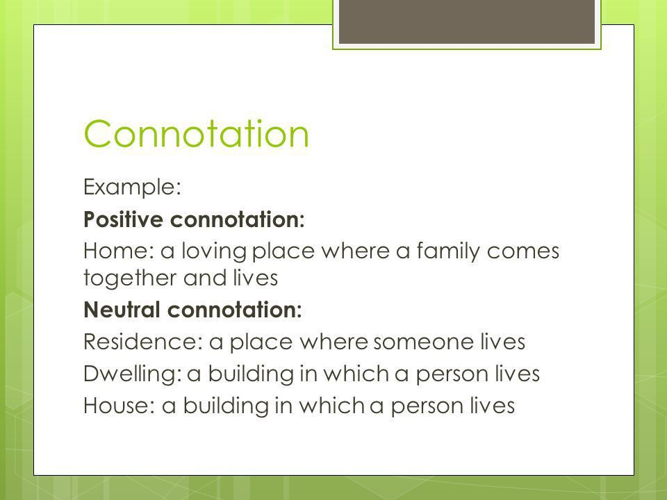 Connotation / Denotation - ppt video online download