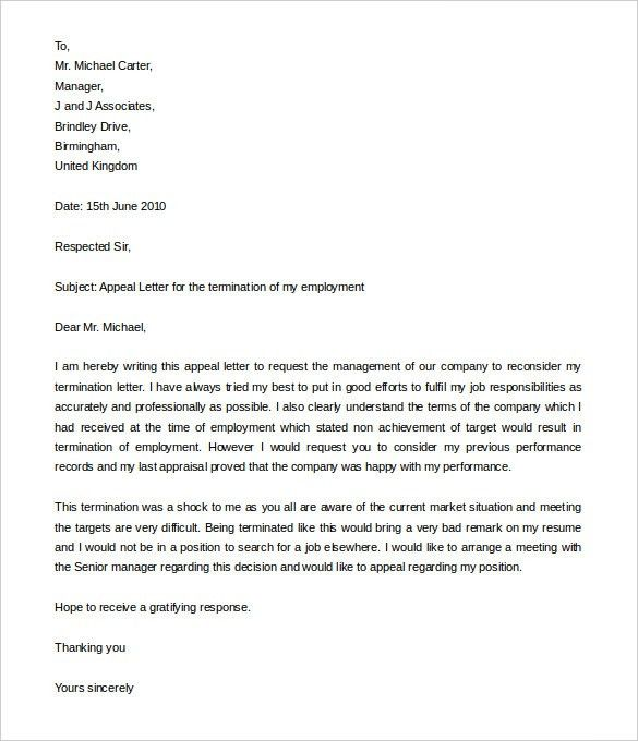 13+ Job Termination Letter Templates – Free Sample, Example Format ...