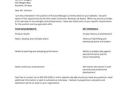 Actor Cover Letters