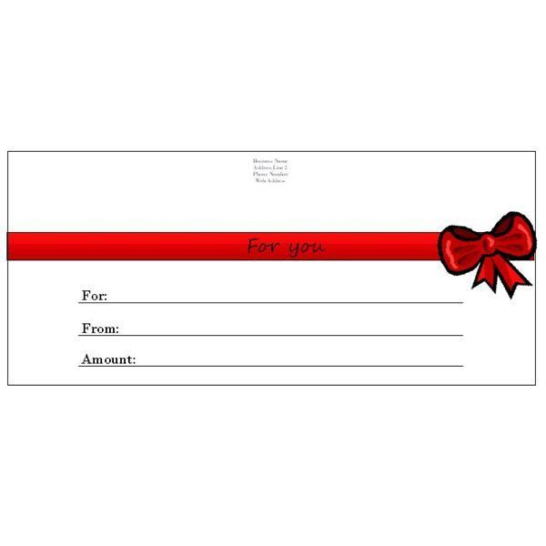 birthday gift certificate template | CRAFTS | Pinterest | Gift ...