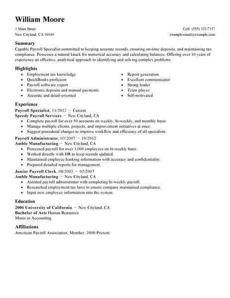 Payroll Specialist Job Description. Knowledge Of Bookkeeping; 36 ...