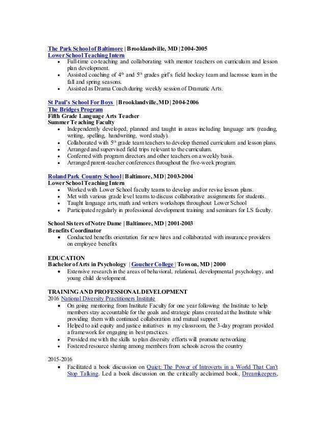Resume, N. Dowell