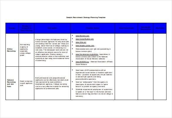 Recruitment Strategy Template - vnzgames