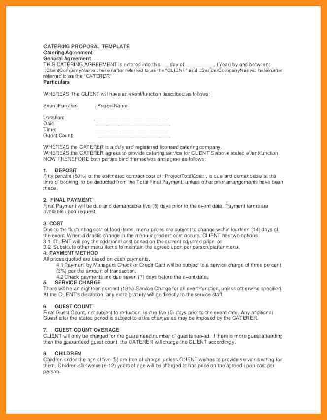 Catering Proposal Template. Best Proposal Format Sample Proposal ...