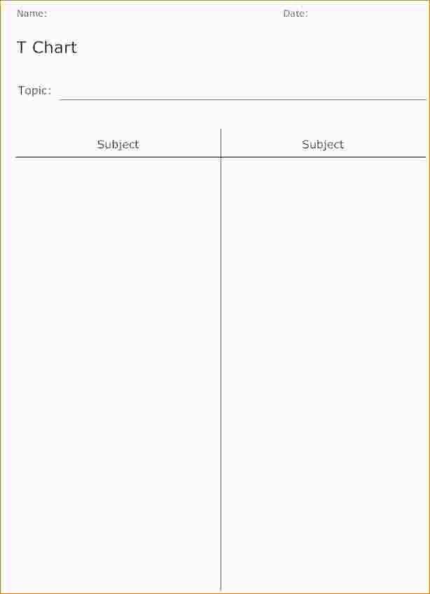 Free T Chart Template Eliolera – T Chart on Word