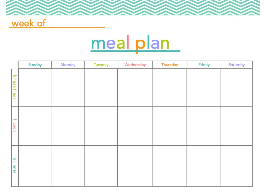 6 Best Images of Free Printable Meal Planner With Snacks - Free ...
