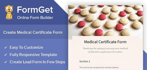 FormGet] - Create Medical Certificate Form For Medical ...