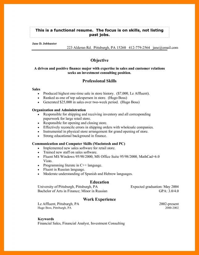 Functional Resume For Teacher Changing Careers. teacher resume ...
