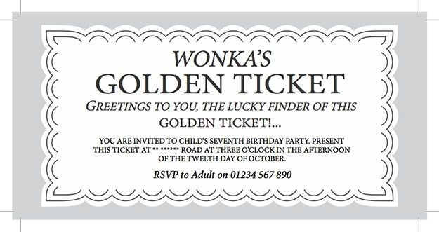 Golden Ticket Templates - Find Word Templates