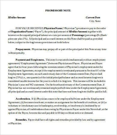 8+ Promissory Note Template Word - Free Sample, Example, Format ...