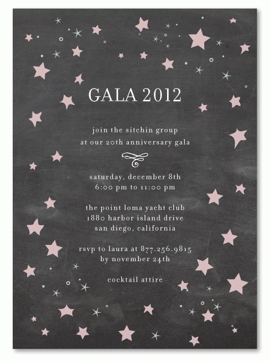Stars Gala (chalkboard edition) | Star designs, Invitation ideas ...