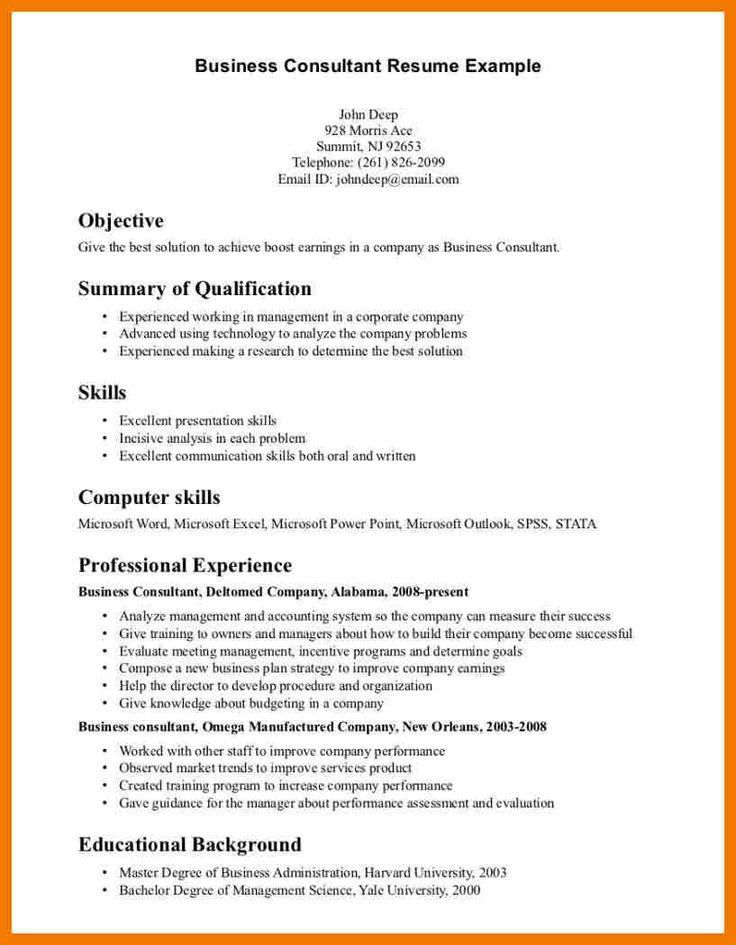 Professional Business Resume Template. Business Analyst Resume ...