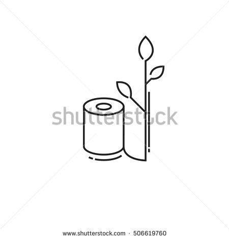 Three Toilet Paper Rolls Icon Stock Vector 505409584 - Shutterstock