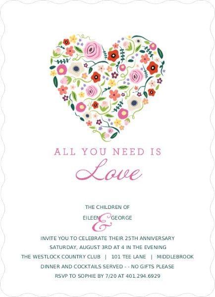 Fifth Anniversary Invitations and Invitation Wording