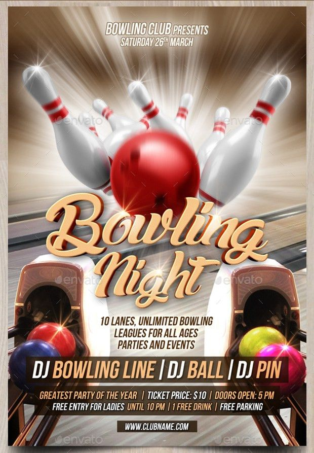 Bowling Flyers Templates Free. bowling flyer template 19 download ...