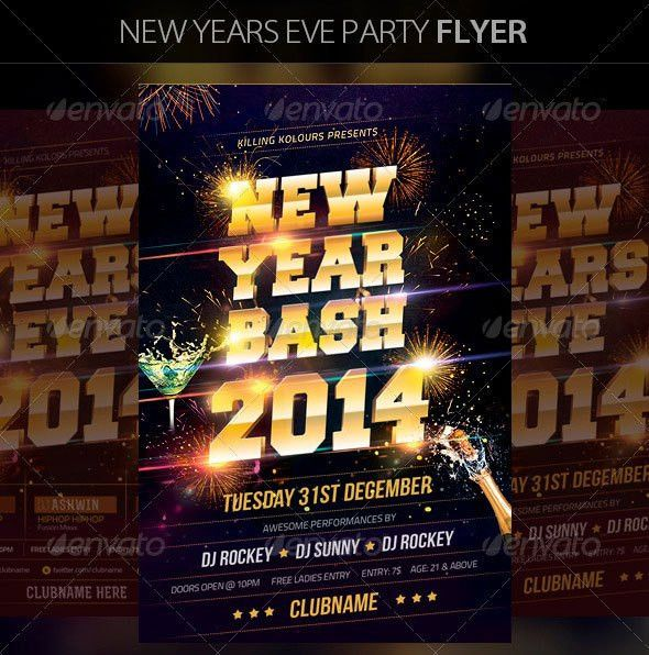 25 Christmas & New Year Party PSD Flyer Templates | Web & Graphic ...
