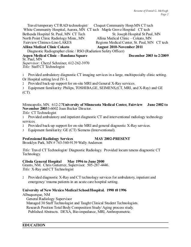 job description for radiologic technologist