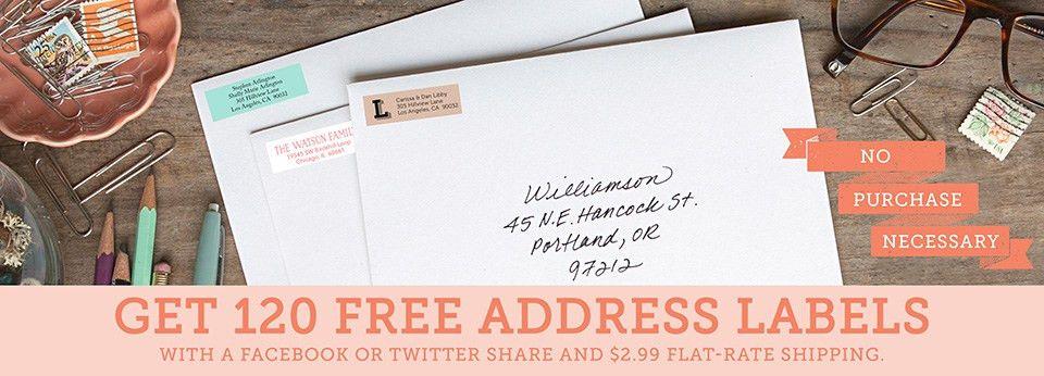 Free Address Labels, Return Address Labels | Evermine