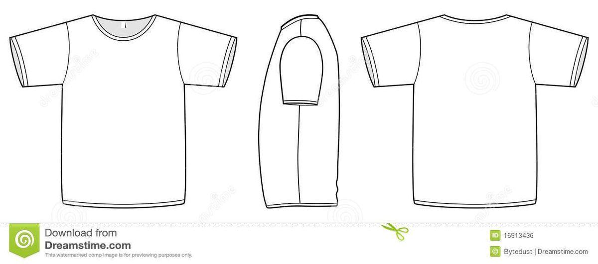Basic Vector Unisex T-shirt Template Illustration. Royalty Free ...
