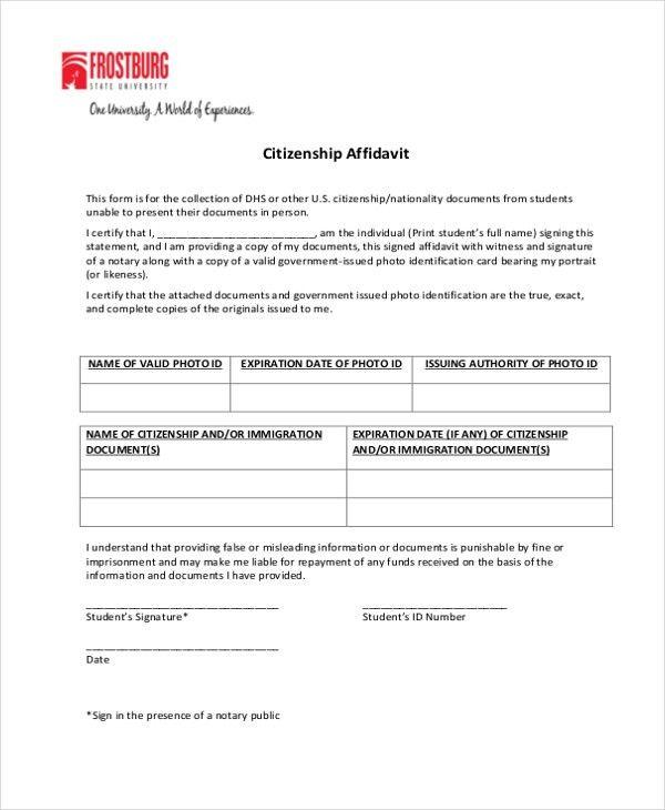 Sample General Affidavit Form - 10+ Free Documents in PDF