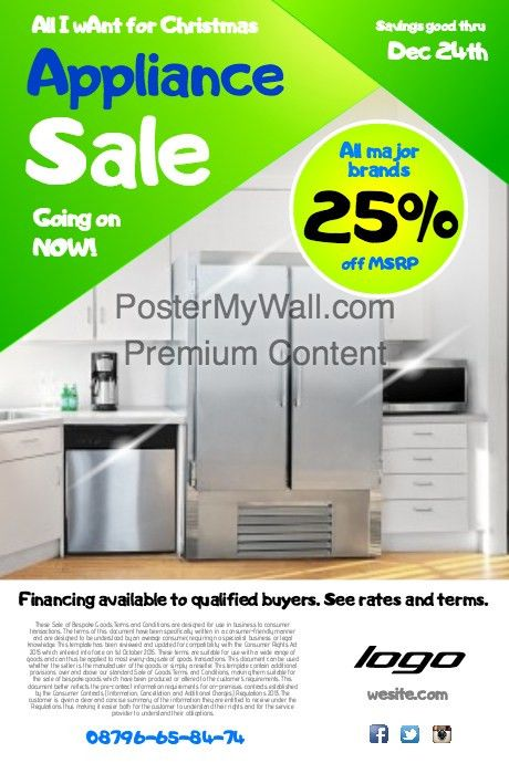 appliance sale poster template | PosterMyWall