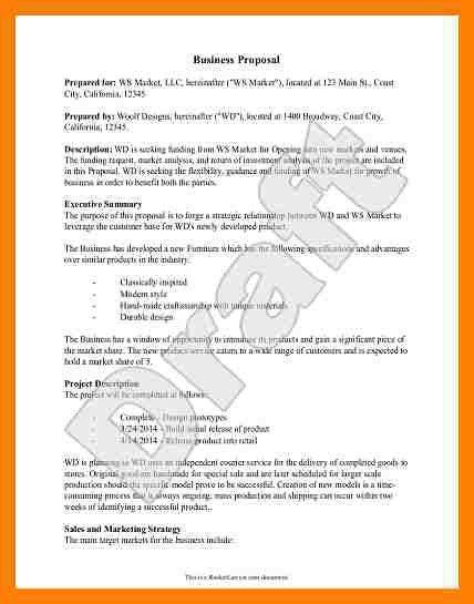 5+ business proposal format samples | packaging clerks