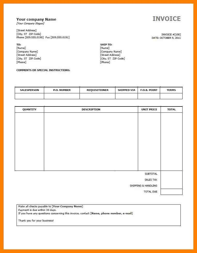 10+ free invoice template pdf format | lab report format