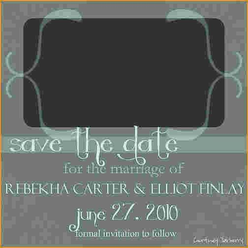 save the date templates free