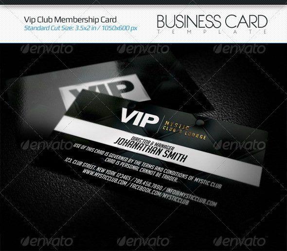 VIP Club Membership Card | Fonts, Print templates and Vip card