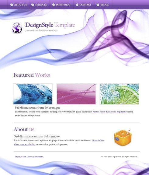 DigitalArt Website Template - 5574 - Abstract - Website Templates ...