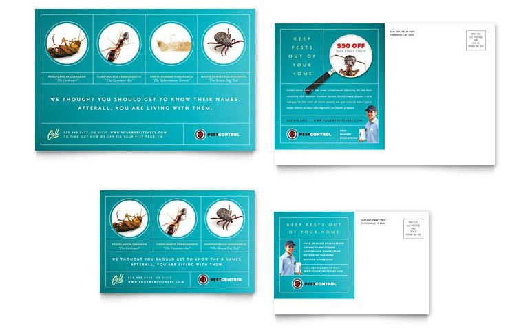 Pest Control Services Postcard Template - Word & Publisher
