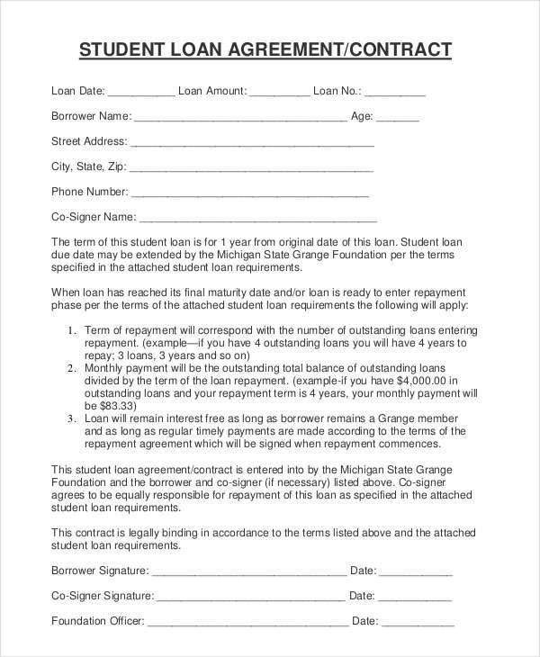 7+ Student Contract Templates - Free Sample, Example, Format Download