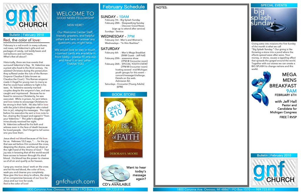 CHURCH BULLETIN TEMPLATES